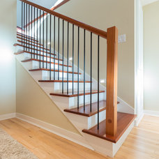 Contemporary Staircase by MAC Renovations LTD.