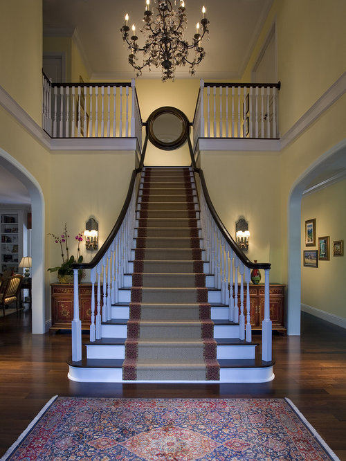 Wood Stairs With Runner Houzz
