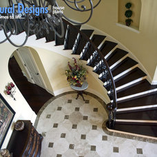 Traditional Staircase by Architectural Designs