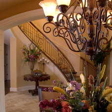 Traditional Staircase by Hughes Edwards Builders