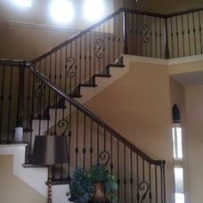 Mediterranean Staircase by KC Architecture
