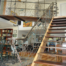 Eclectic Staircase by Michael Burns Architects