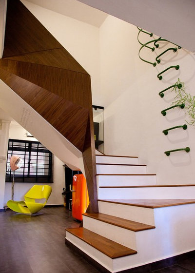 Eclectic Staircase by Space Sense Studio