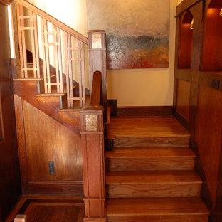 アトランタのトラディショナルスタイルのおしゃれな階段の写真