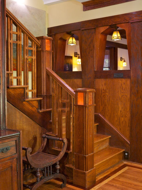 Wood stair railing home design ideas pictures remodel - Interior stair railing contractors ...