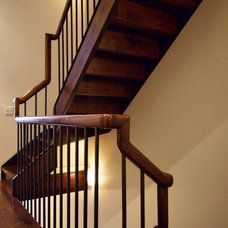 Contemporary Staircase by Ascher Davis Architects, LLP