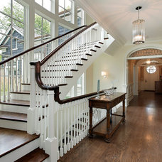 Traditional Staircase by Highgate Builders