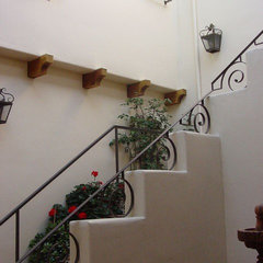 mediterranean staircase by Ashford Associates