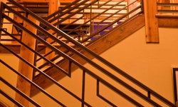 Asian Style Staircase Railing Steamboat Storm Meadow Drive Mountain/Asian Fusion