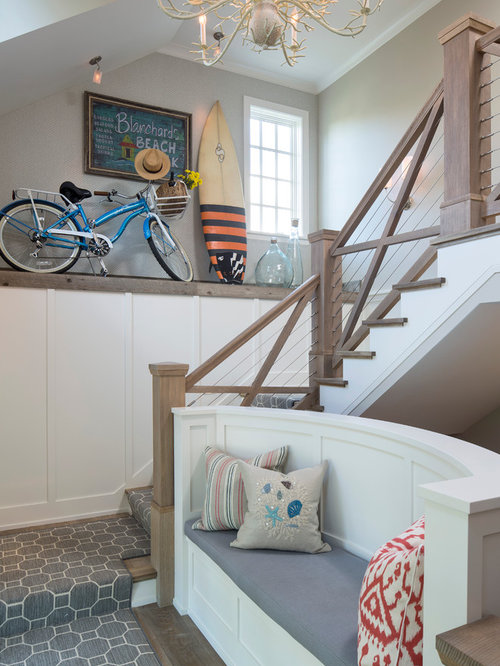 maritime treppen in l form ideen design bilder houzz. Black Bedroom Furniture Sets. Home Design Ideas