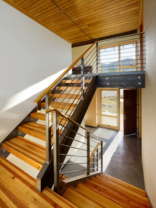 Steel Stair Stringer Home Design Ideas Pictures Remodel