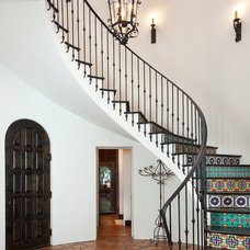Mediterranean Staircase by Cason Graye Homes