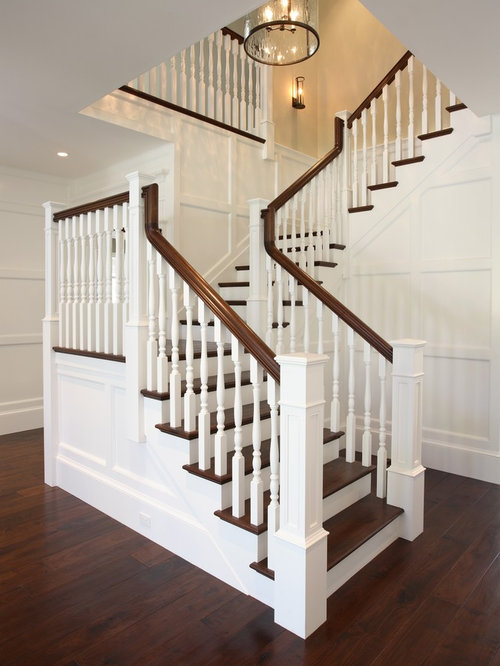 Traditional Wooden Staircase Idea In San Francisco