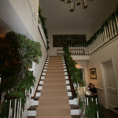 traditional staircase Atherton Holiday House Tour