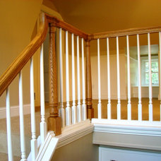 Traditional Staircase by Home Restoration Services, Inc.
