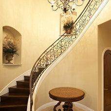 Mediterranean Staircase by ashon homes