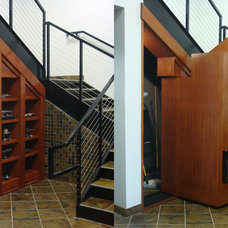 Contemporary Staircase by Creative Home Engineering