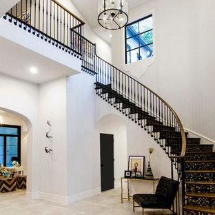 This is an example of a mediterranean staircase in Dallas.