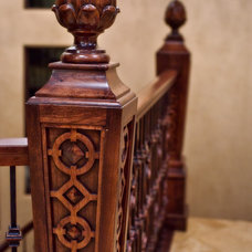 Traditional Staircase by Riverwoods Mill
