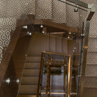 Staircase - huge modern staircase idea in Toronto