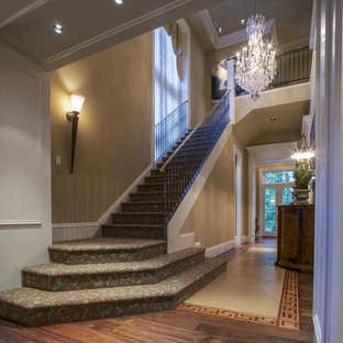 Example of a classic staircase design in Baltimore