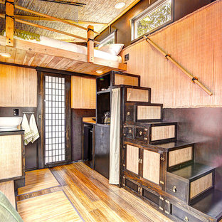Bamboo Tiny House - Tansu Stairs