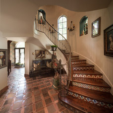 Mediterranean Staircase by Thompson Custom Homes
