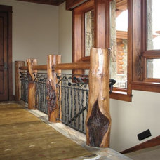 traditional staircase by Teton Heritage Builders