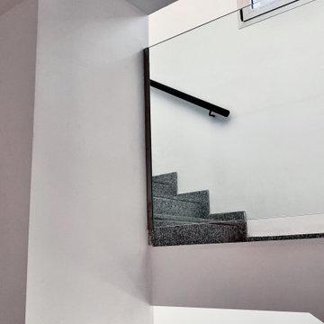 Barandillas y huecos de vidrio   Escalera recta   ARTEMIS RESIDENCIAL