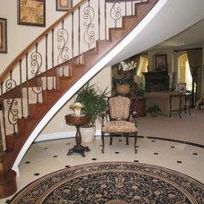 Mediterranean Staircase by Barber Builders