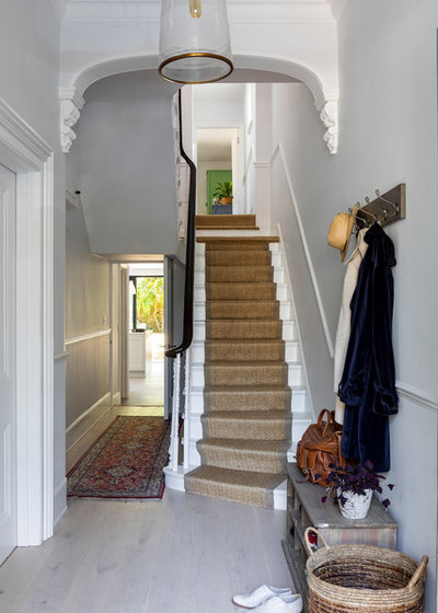Transitional Staircase by Imperfect Interiors