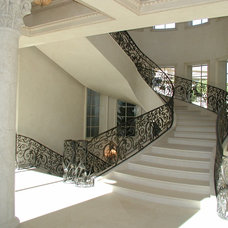 Mediterranean Staircase by Richard Luke Architects P.C.