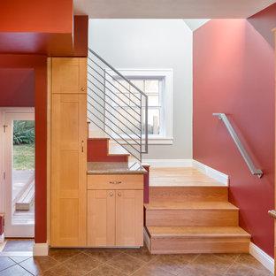 Staircase - contemporary staircase idea in Portland