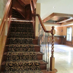 staircase by Fiducia Home Builders and Design, Inc.