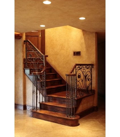 Mediterranean Staircase by Berriz Design Build Group