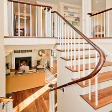 Traditional Staircase by Toby Leary Fine Woodworking Inc.
