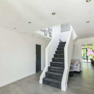 Staircase   Contemporary Carpeted Staircase Idea In Other