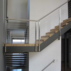 Modern Staircase by Gardner Mohr Architects LLC