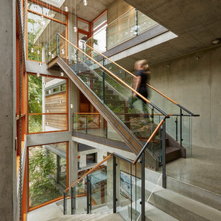 Staircase - contemporary staircase idea in Seattle