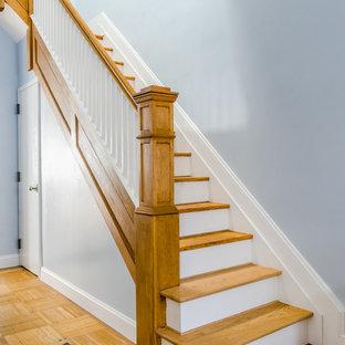 Inspiration för en vintage trappa