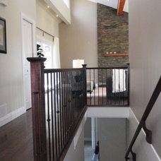 Transitional Staircase by Emily Hagerman Design