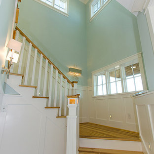 Inspiration for a coastal staircase remodel in Other
