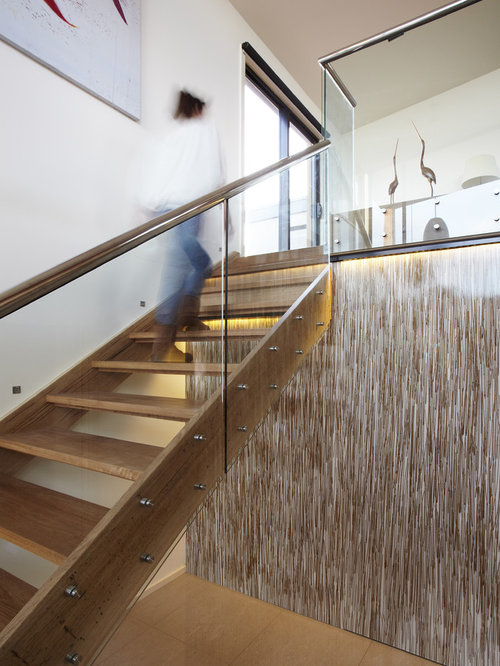 Glass Stair Railing Home Design Ideas, Pictures, Remodel and Decor