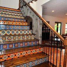 Mediterranean Staircase by Javic Homes