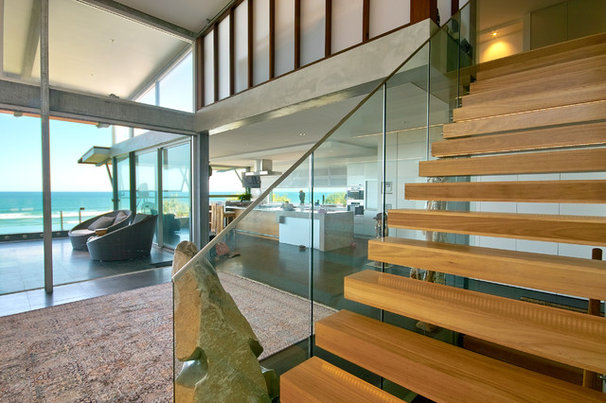 Beach Style Staircase by Skale Building Design