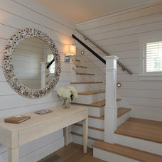 Beach Style Staircase by Donna Elle Seaside Living