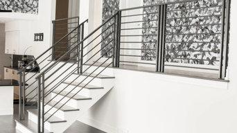 Beautiful modern metal railings