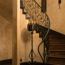 Mediterranean Staircase by Cole Luxury Homes