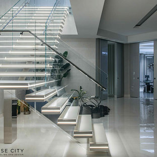 Beautiful Staircase with lighting .