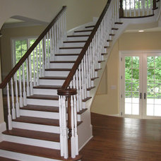 Contemporary Staircase by McSpadden Custom Homes